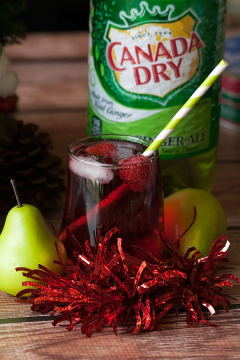 fruity new years cocktail