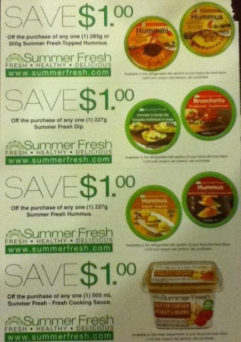 Summerfresh dips coupons 2015