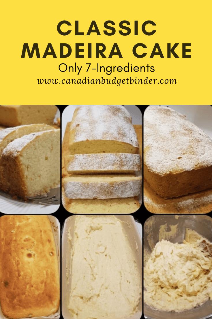 Classic Madeira Cake – 7 Ingredients