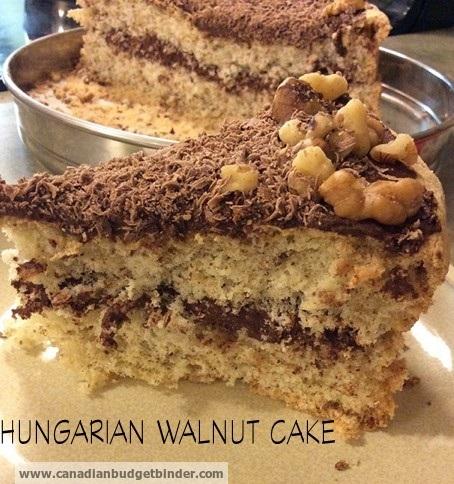 Hungarian Walnut Cake wm