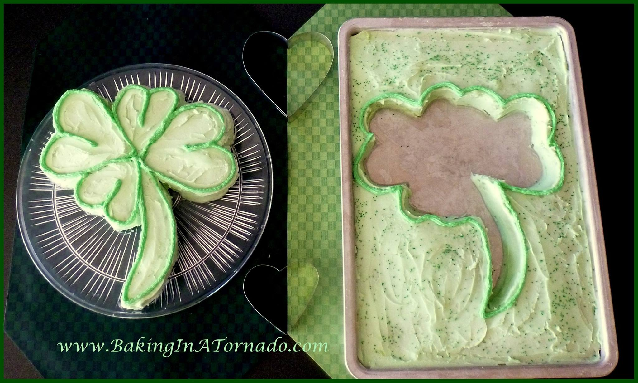 creme de menthe shamrock cake St patricks day