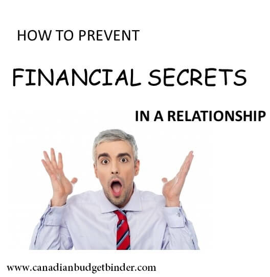 How to prevent financial secrets in a relationship