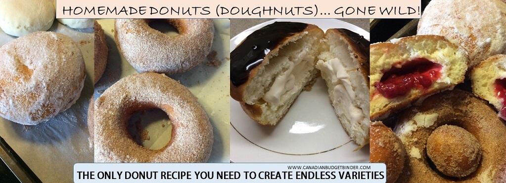 homemade donut varities