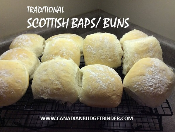 traditional scottish baps