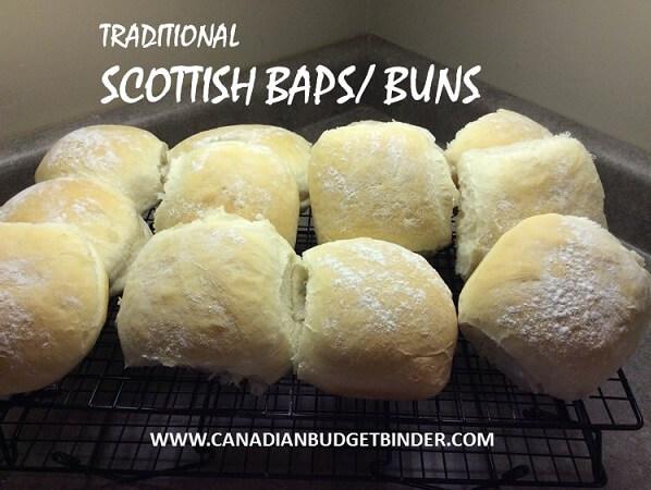 Traditional Scottish Baps Or Buns Canadian Budget Binder