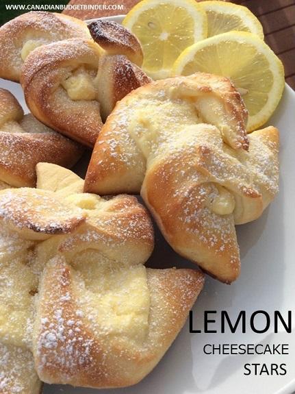 Lemon Cheesecake Stars