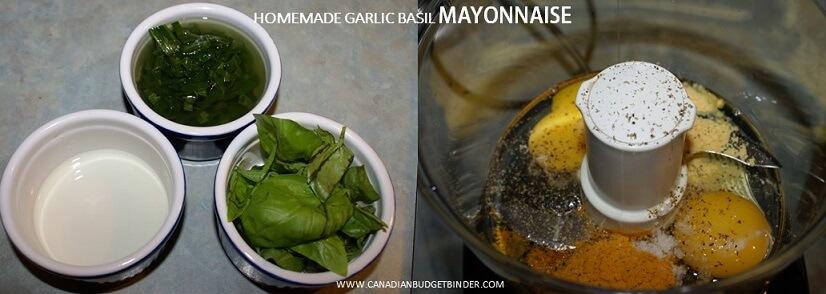 how to make mayonnaise with garlic and basil