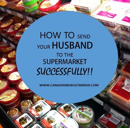How to send your husband to the supermarket successfully : The Grocery Game Challenge #5 June 29-July 6, 2015