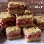 Ooey Gooey Coconut Cherry Pie Bars