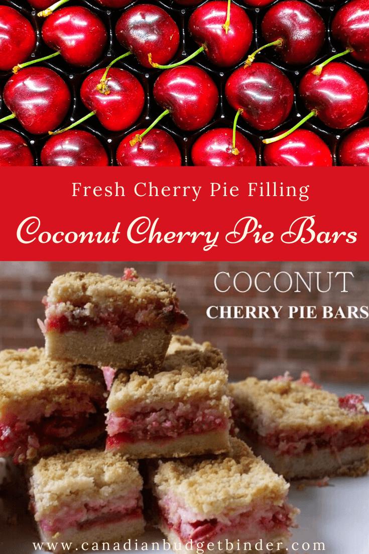 The Best Coconut Cherry Pie Bars