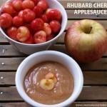 Rhubarb Cherry Applesauce