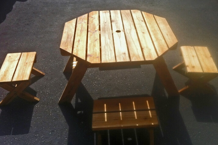 KIDS KRAFT PICNIC TABLE
