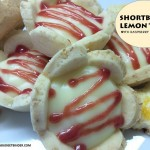 Little Shortbread Lemon Tarts with Raspberry Drizzle