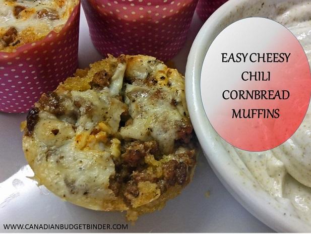 Easy Cheesy Chili Cornbread Muffins