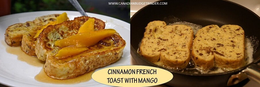 HOW TO MAKE CINNAMON FRENCH TOAST WITH MANGO