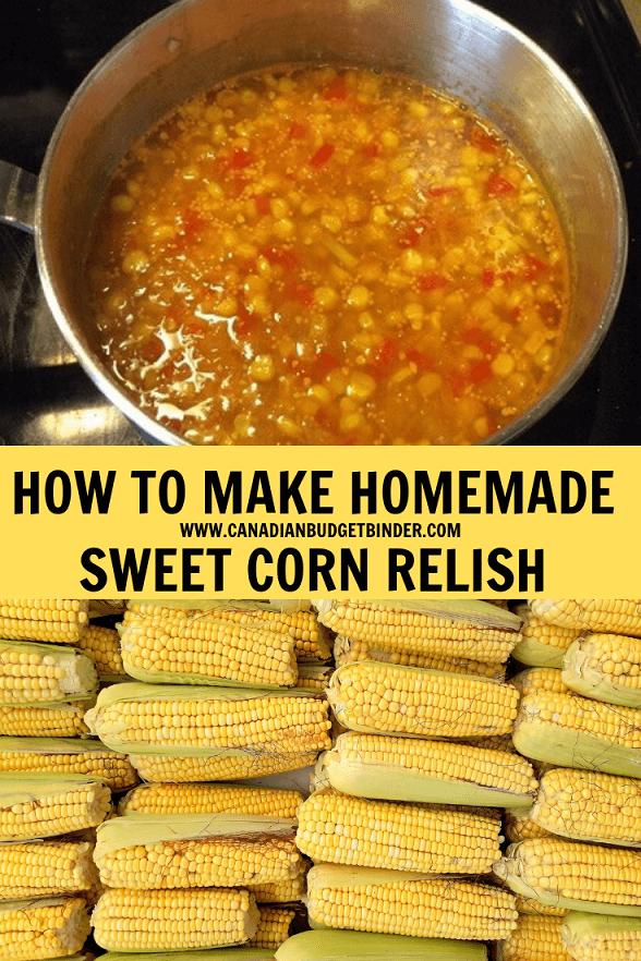 sweet corn relish recipe