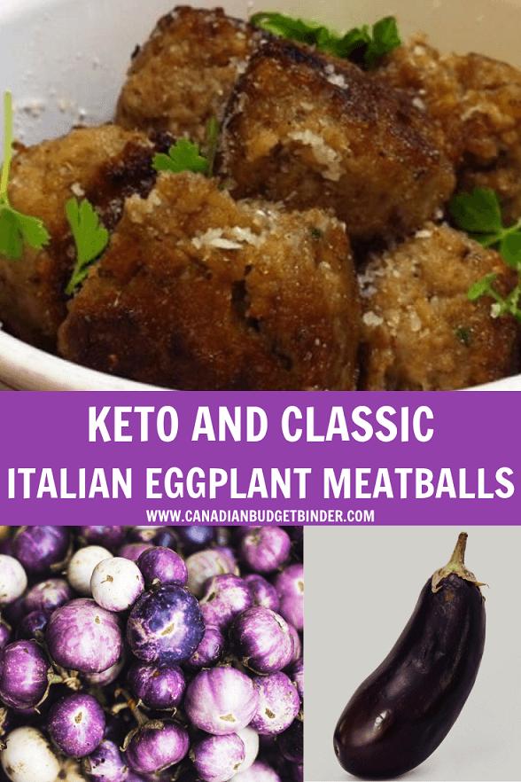 KETO AND CLASSIC ITALIAN EGGPLANT MEATBALLS