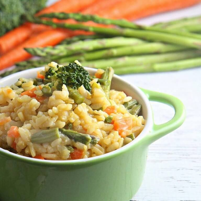 easy vegetable risotto a dish of daily life blog