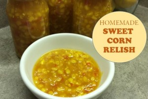 homemade sweet corn relish cover