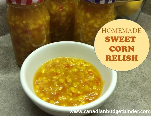 homemade sweet corn relish cover