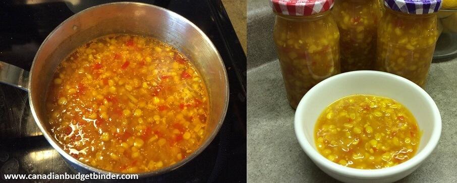 how to make sweet corn relish