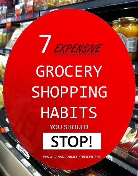 7 Expensive Grocery Shopping Habits You Should Stop! : The Grocery Game Challenge #4 Nov 23-29, 2015
