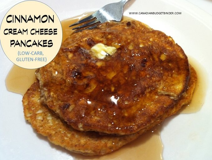 CINNAMON CREAM CHEESE PANCAKES LOW CARB GLUTEN FREE