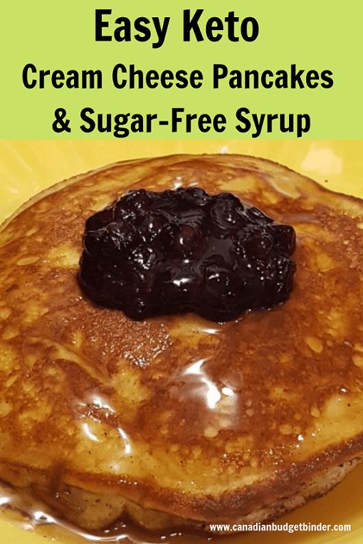 Easy Keto Cream Cheese Pancakes Sugar-Free Syrup-1