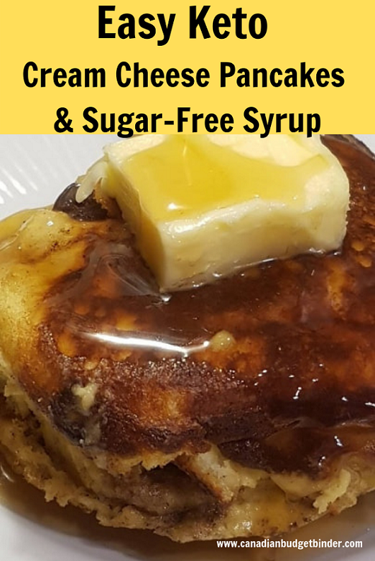 Easy Keto Cream Cheese Pancakes Sugar-