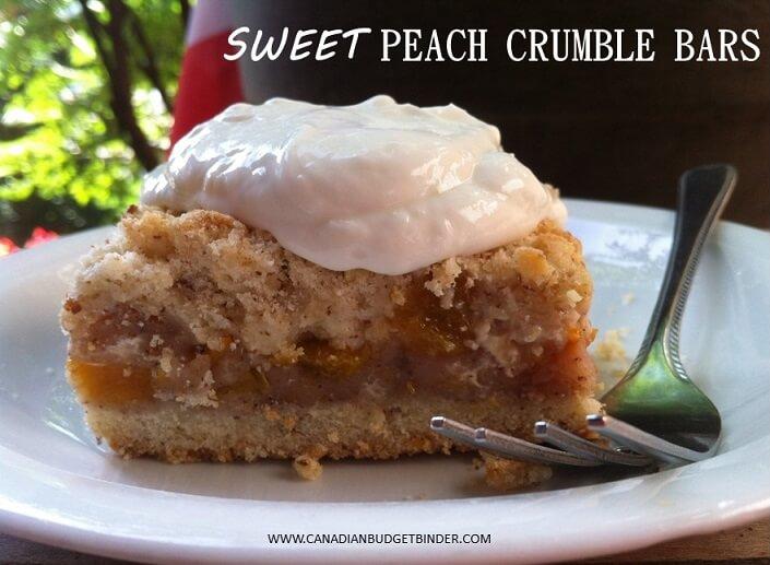 Sweet Peach Crumble Bars