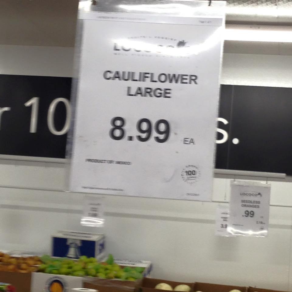 cauliflower 8 99 ontario canada