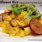 Cauliflower Rice & Broccoli Stir-Fry with Sausage (Low-Carb)
