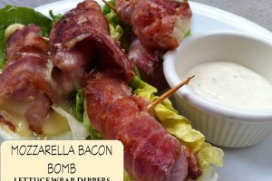 mozzarella bacon bomb lettuce wrap dippers