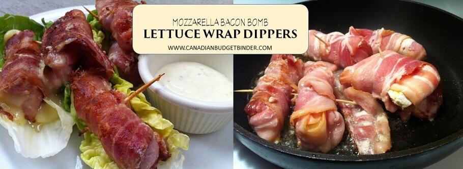 mozzzarella bacon bomb lettuce wrap dipper