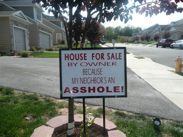 Neighbour is an asshole