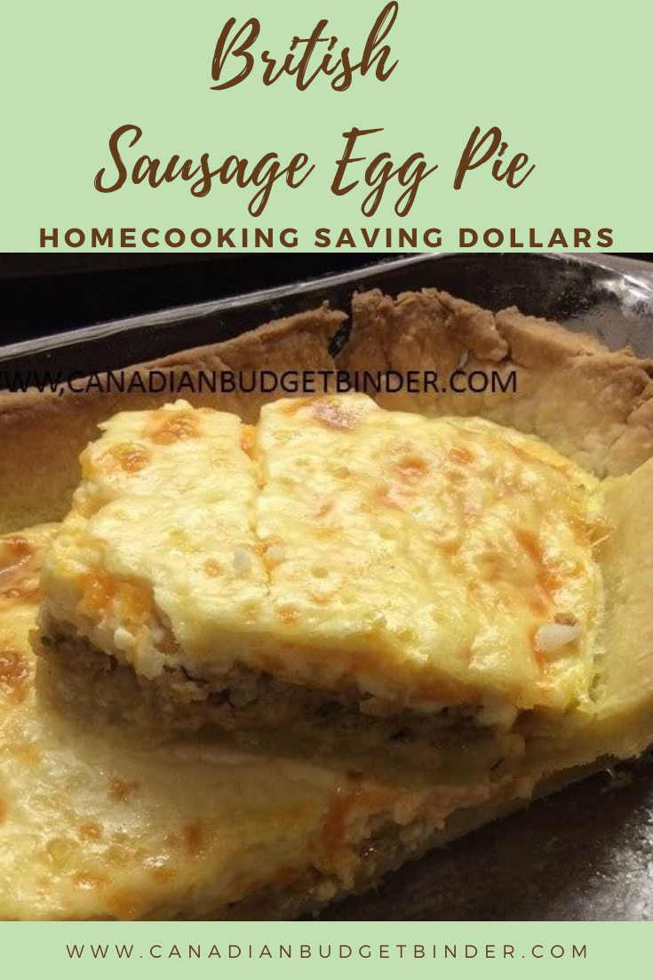 British Easy Sausage Egg Pie