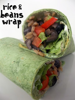 Rice and Beans Wrap