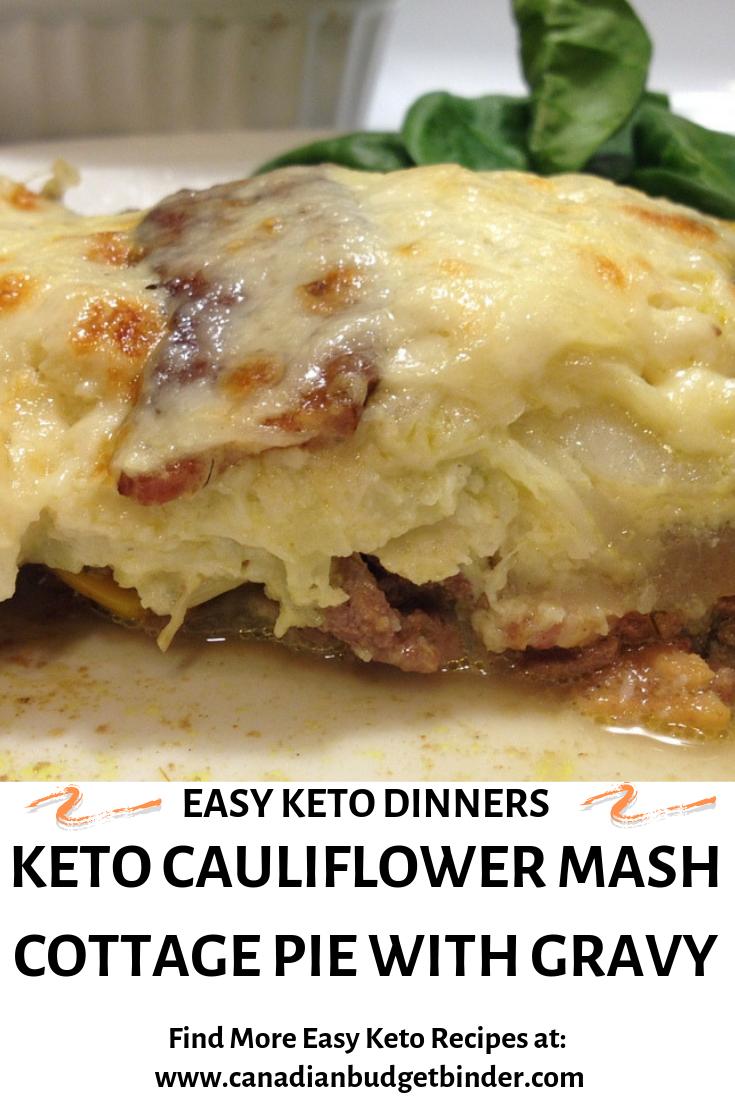 keto cauliflower mash cottage pie