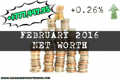 February 2016 Net Worth Update Positive Net Worth