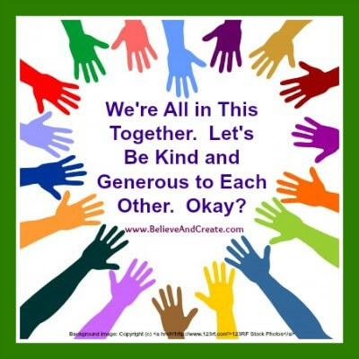 be kind and generous to each other(1)