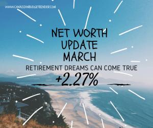Net Worth Update March 2016 CBB