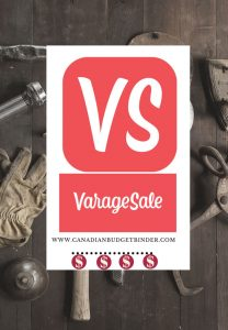 VarageSale Cover Canadian Budget Binder