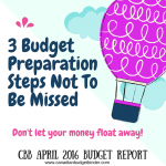 3 Budget Preparation Steps Not To Be Missed : Our April 2016 Budget Report