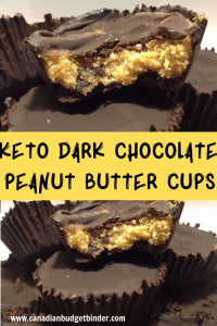 keto dark chocolate peanut butter cups