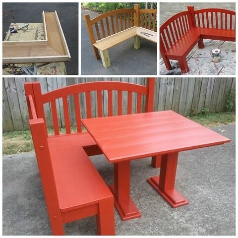 kids corner bench diy