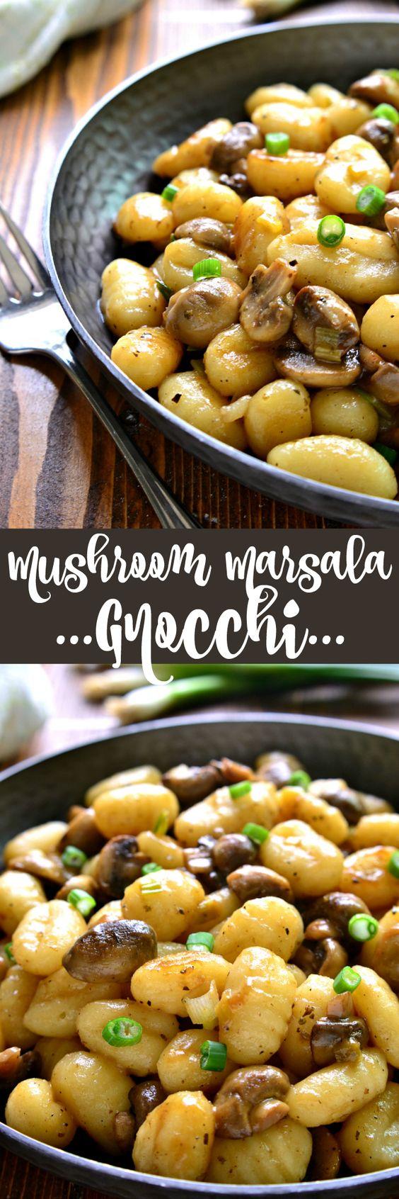 mushroom marsala gnocchi
