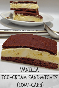 VANILLA ICE-CREAM SANDWICH (LOW-CARB)