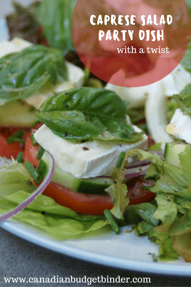Caprese Salad Party Dish With A Twist