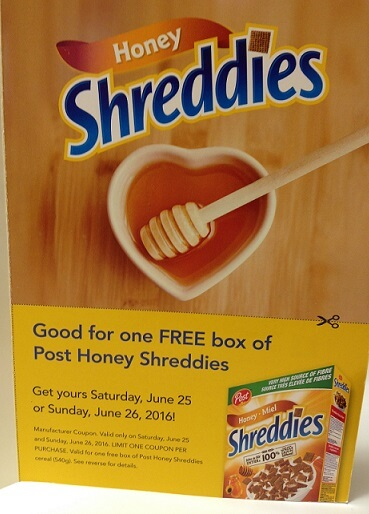 free product coupon shreddies Canada 2016