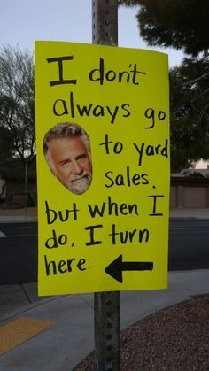 going to garage sale